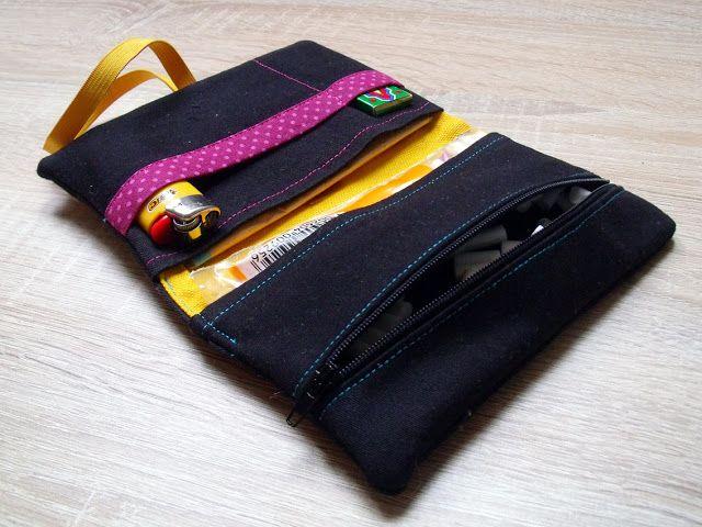 Meine Upcycling-Tabaktasche | just sewn. | Pinterest | Tabaktasche ...
