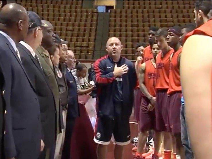 Watch Virginia Tech Basketball Coach Teaches Players to