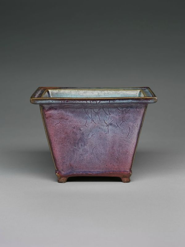 Rectangular Flowerpot with Four Small Feet, Ming dynasty, 1368-1644, probably 15th century,