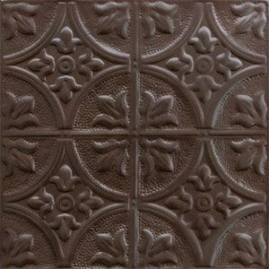 Old bronze colored tin backsplash 24 x24 for backsplashes tin ceiling tiles tin - American tin tiles wallpaper ...