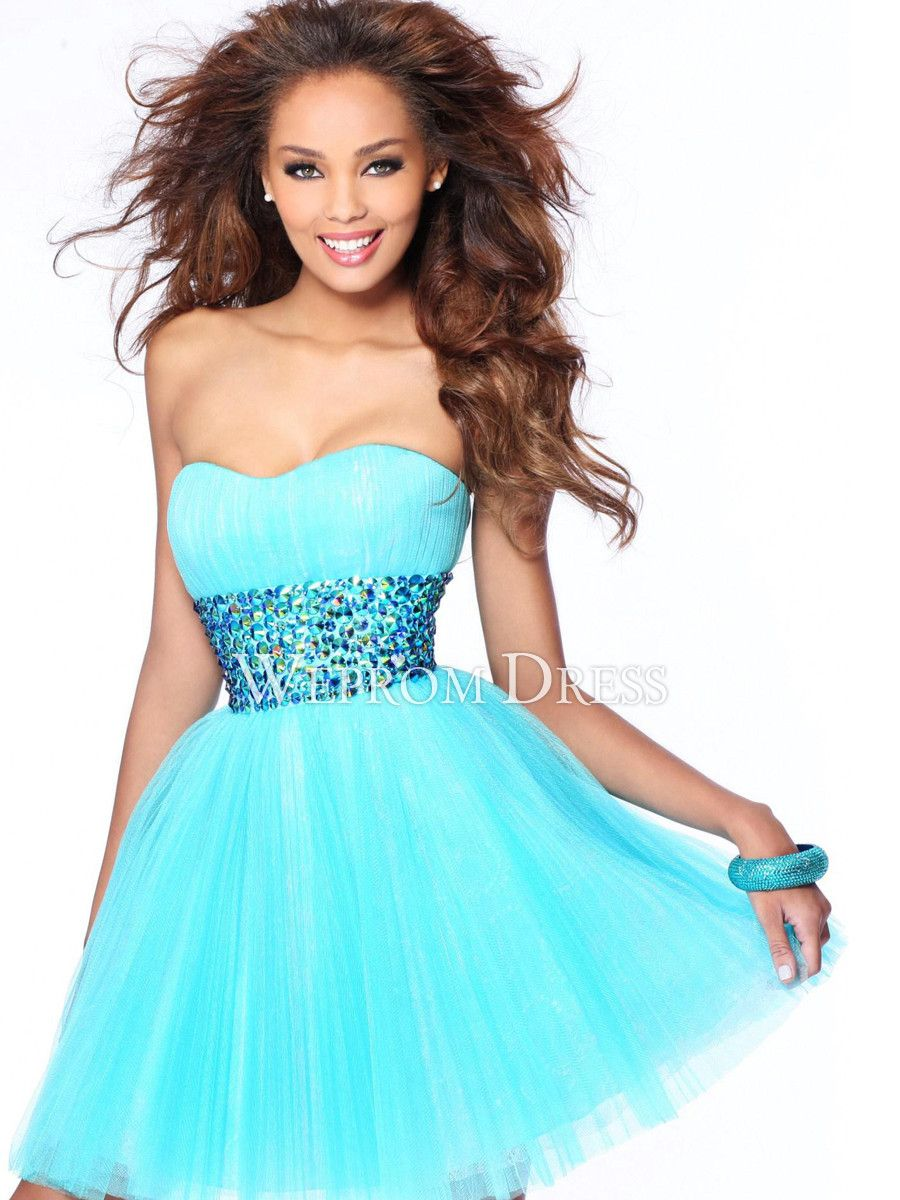 Formal Dress - Lila Light Blue Sequin Dress, | UsTrendy - Polyvore ...