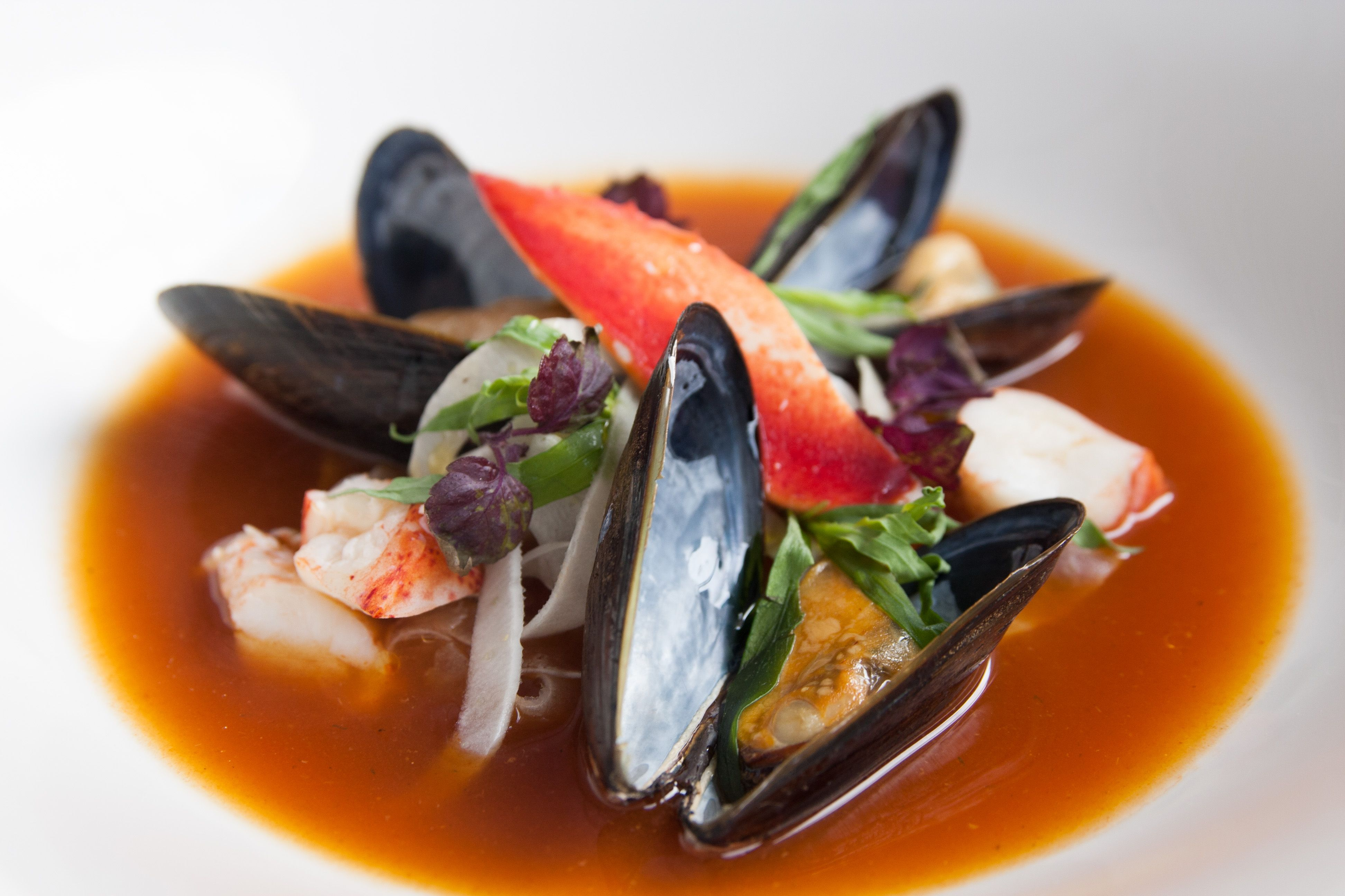 Red Hot Tub (Chef's signature dish) Lobster broth