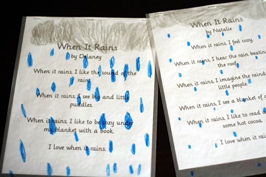 Random word poems. Instructions from @simplekids. Good ...