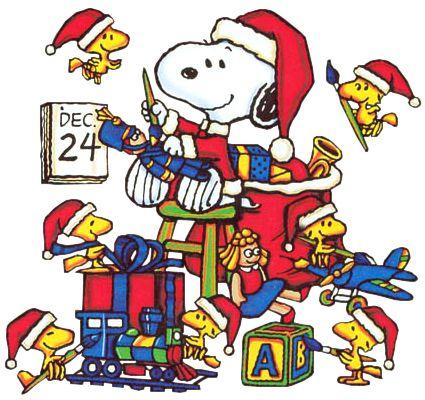 Christmas Eve Clip Art | Christmas Snoopy and Woodstock Christmas ...