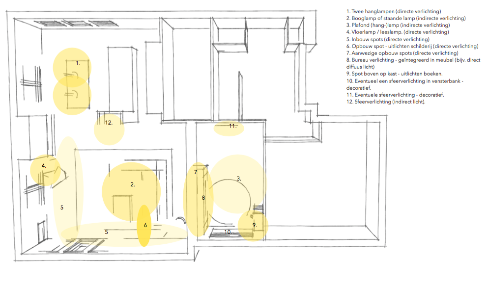 Afbeeldingsresultaat voor lichtplan woonkamer | Design house ...