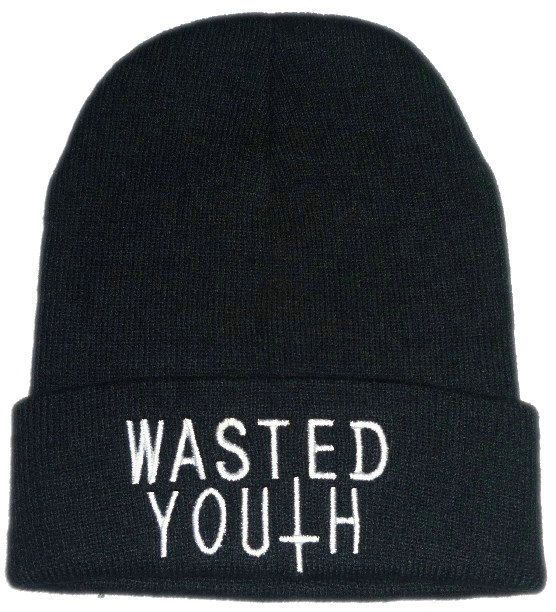 532ac7ae914 WASTED YOUTH beanie hat on Etsy