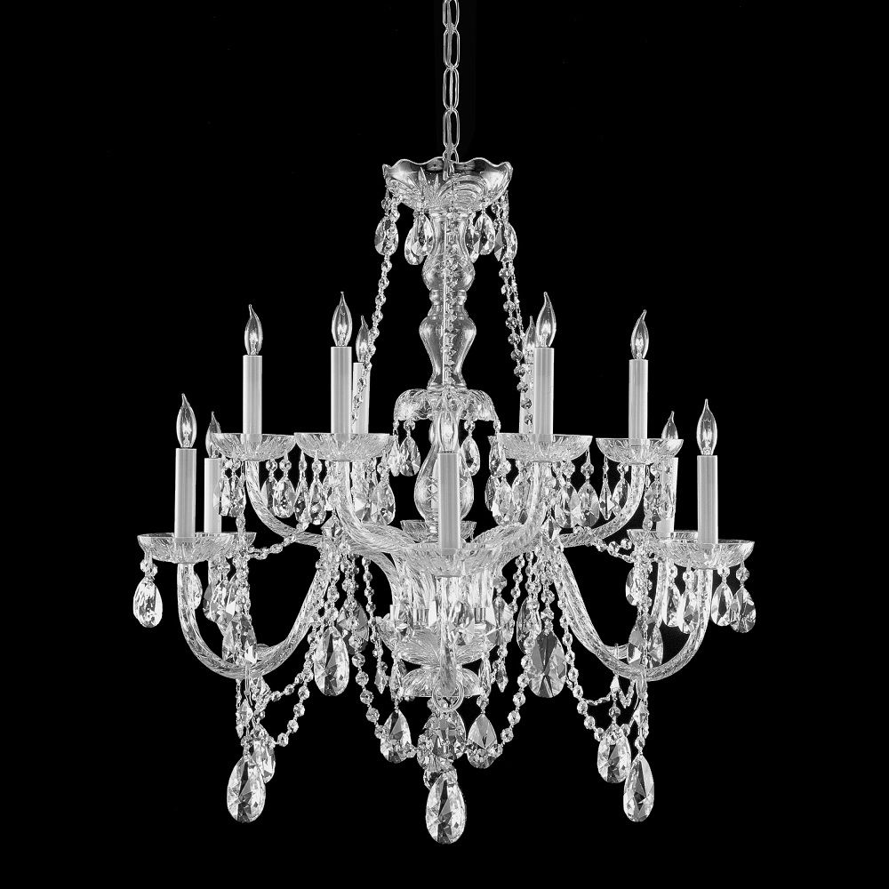 This crystal candelabra chandelier provides luxurious illumination lighting short webstore traditional crystal 12 light chandelier crystal s mozeypictures Images