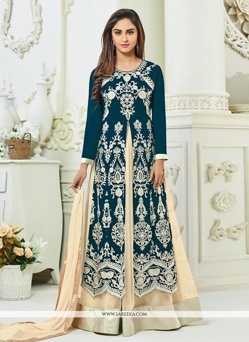 8ff2e2202 Buy latest bollywood designer lehenga choli online. Grab this hypnotic  Krystle Dsouza long choli lehenga for mehndi and sangeet. - Lehenga Choli