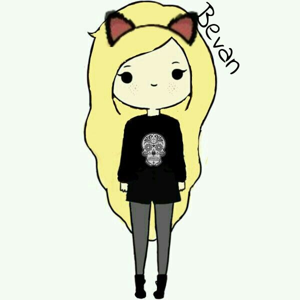 Meee Edited Cute Cartoon Girl Kitty Bevan Cartoon Girl