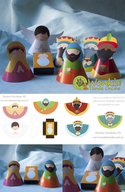 f33bd849ddc Pesebre 3D para armar - Descargalo GRATIS!  navidad  nacimiento  jesus http
