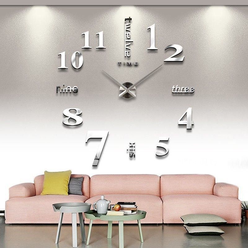 cozroom modern frameless large diy wall clock kit decoration home for living room bedroom learn more home decor by visiting the image link