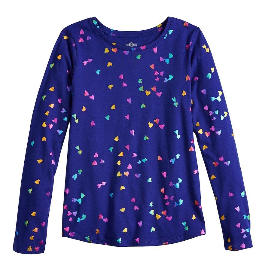 f04b460645e Girls 7-16   Plus Size SO® Long Sleeve Core Tee