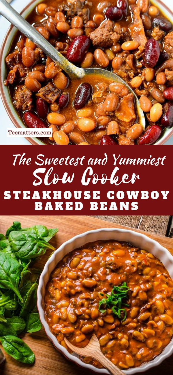 Slow Cooker Steakhouse Cowboy Baked Beans images
