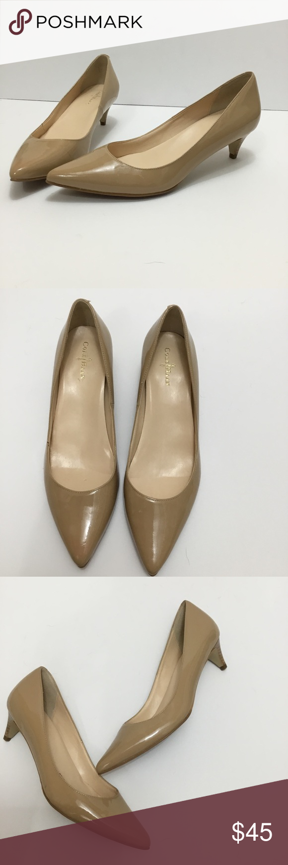 790cff09ddf Cole Haan || NEW nike air shiny nude kitten heels Cole haan x Nike ...