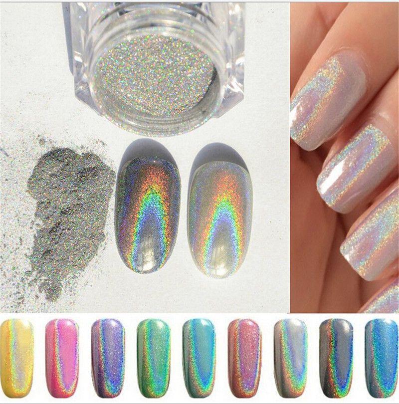 1g Holographic Holo Chrome Glitter Powder Dust 3d Nail Art Decor