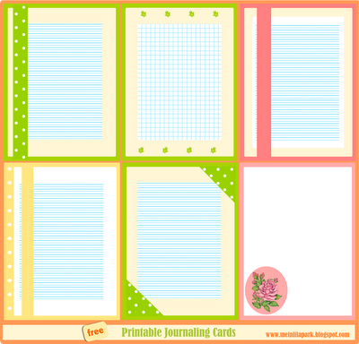 FREE digital and printable journaling cards / writing paper