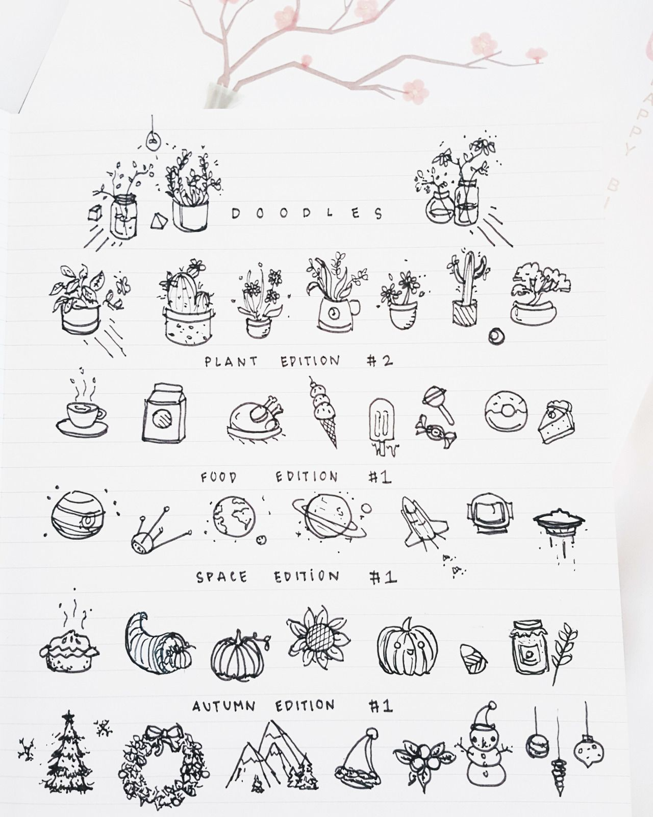 Doodles for your bullet journal // just in time for autumn ...