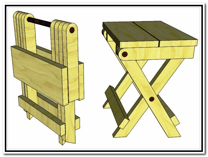 Folding Wooden Step Stool Plans Carpinteria