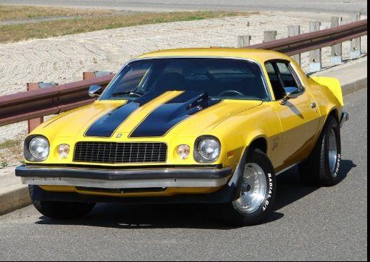 Favorite Car Yellow 79 Camaro With Dual Black Racing Stripes
