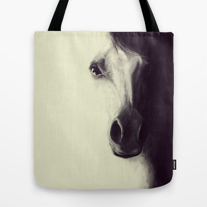 Come to me, my dream.. Digital illustration Horse / Tote Bag by LilaVert