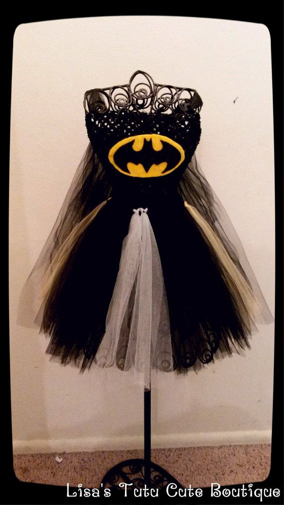 Adult Batman costume with attached cape by LisasTutus on Etsy
