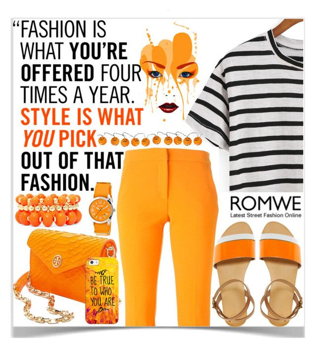 """""""Style Is what you pick~~ Romwe ♥"""" by av-anul ❤ liked on Polyvore featuring MSGM, J.Crew, ASOS, Tory Burch, Crayo, Mixit, Casetify, romwe and avanul"""