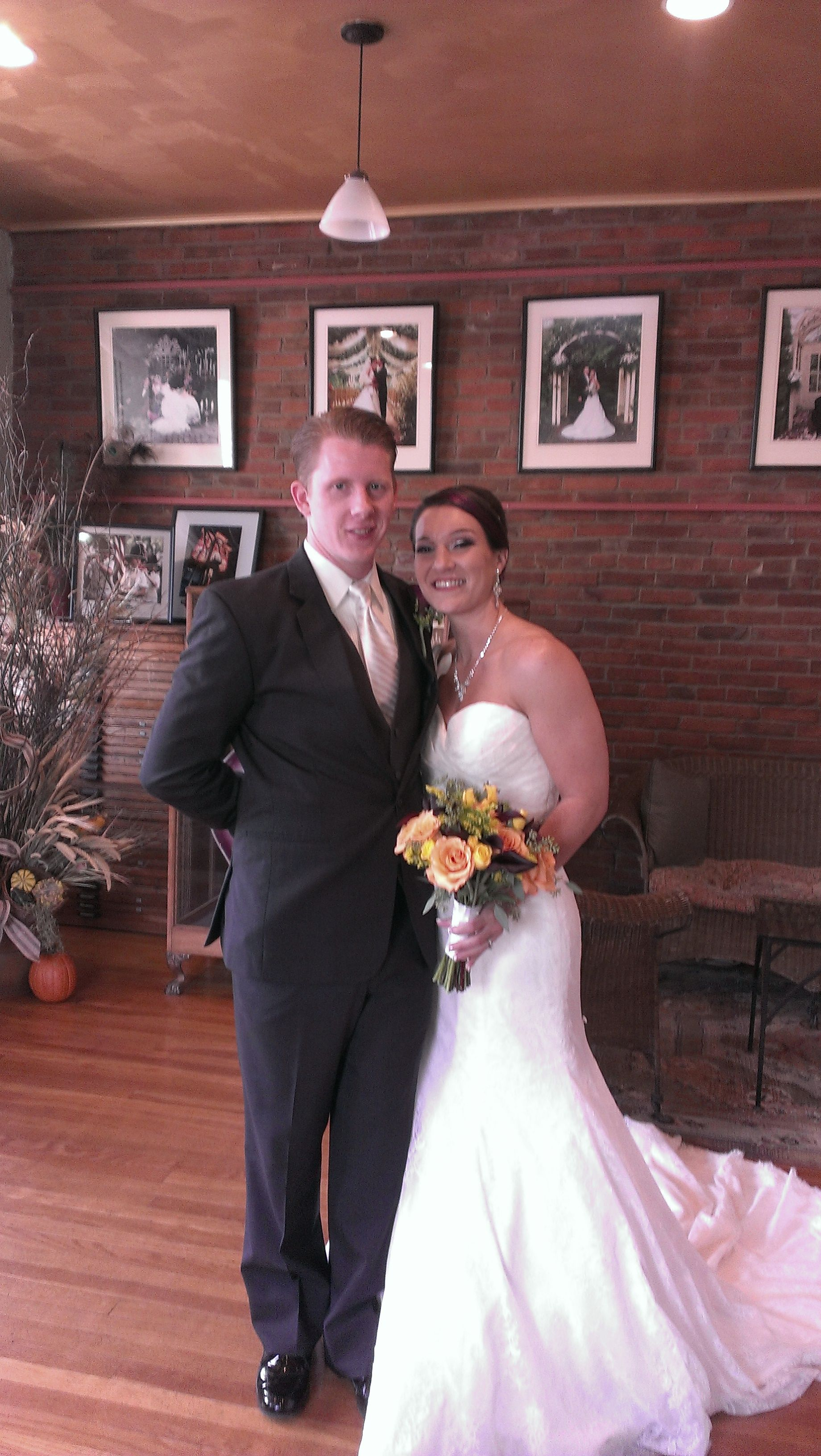 Eric and erica were married at the conservatory on 1019