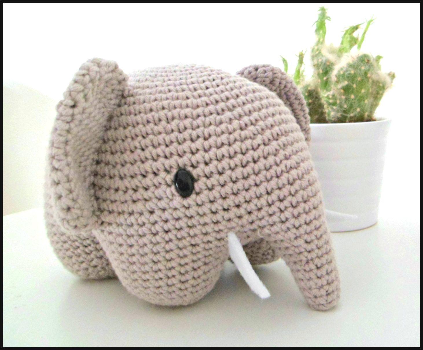 Descarga gratis el patrón de un elefante amigurumi en español. Crea ...