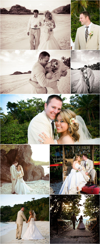 US Virgin Islands wedding at trunk bay.