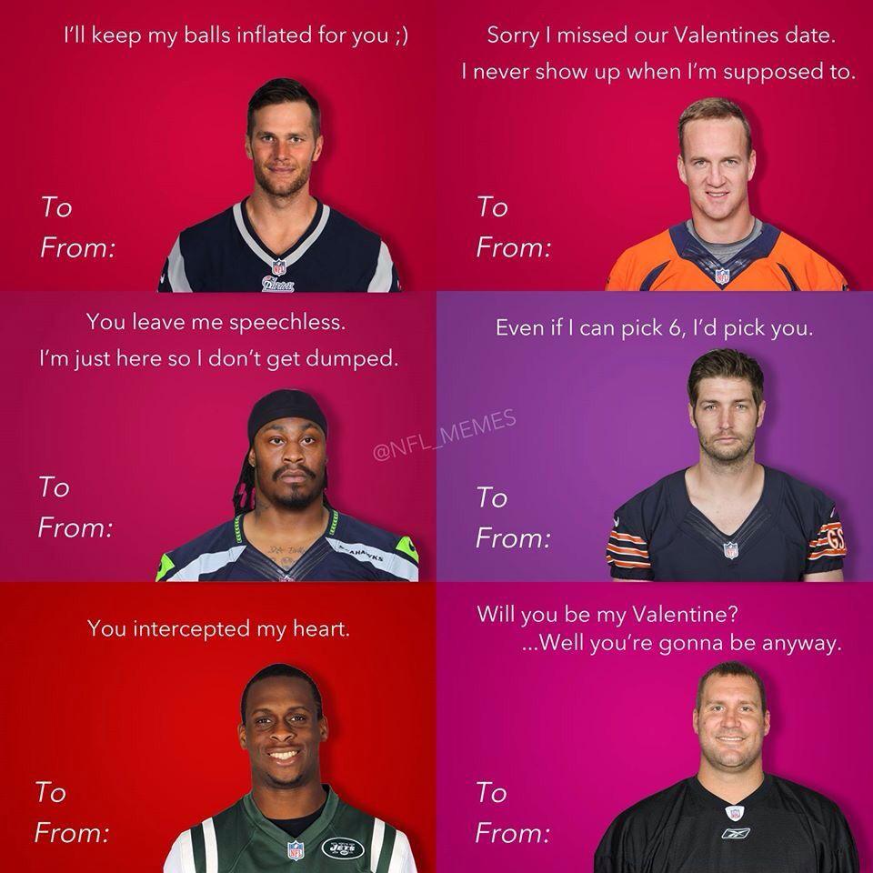 happy valentines day nfl style sports pinterest