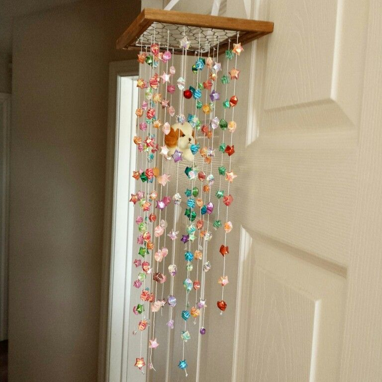 upcycled origami paper star mobile chandelier :) I wanted to ...