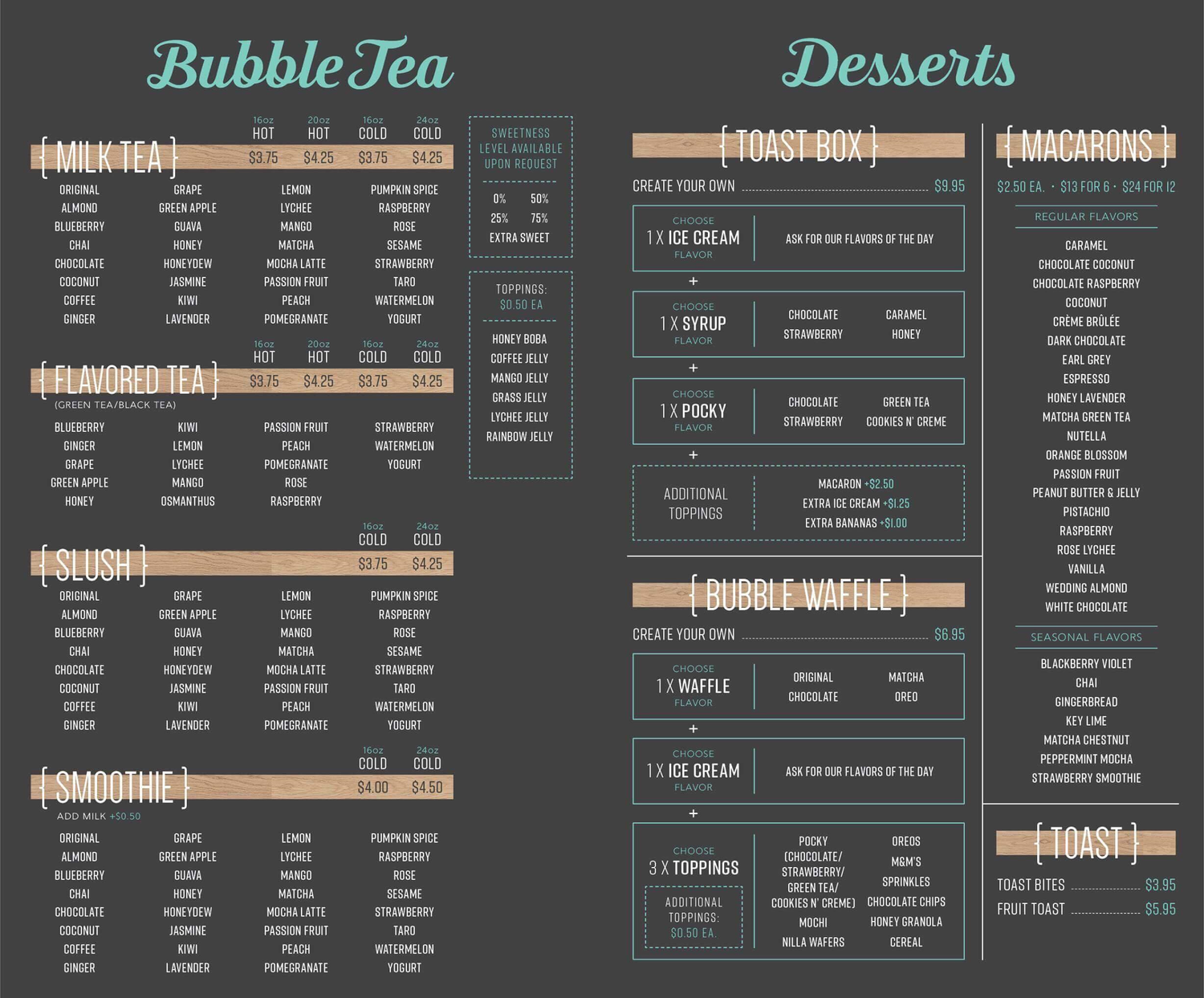 3 Seattle Desserts To Try Now Rain Or Shine Guides Bubble Tea Shop Bubble Tea Menu Bubble Tea
