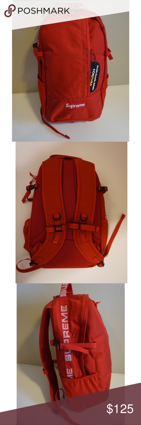 84d718ee Supreme Backpack Purchase brand new from StockX Perfect condition. Supreme  Bags Backpacks