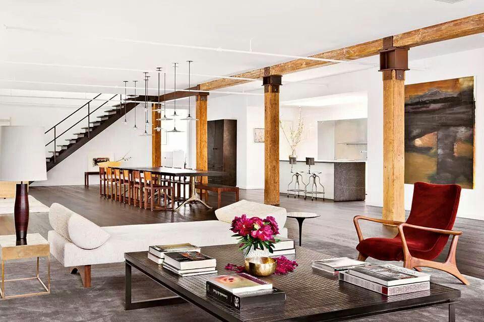Columnas y vigas de madera