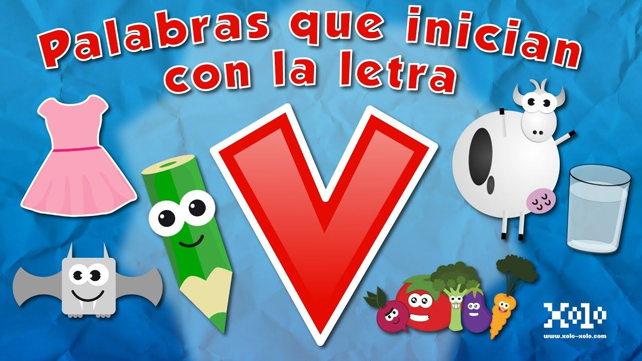 Words that start with the letter V in Spanish for children