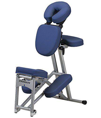 Stronglite Ergo Pro Ii Portable Massage Chair Package Royal Blue