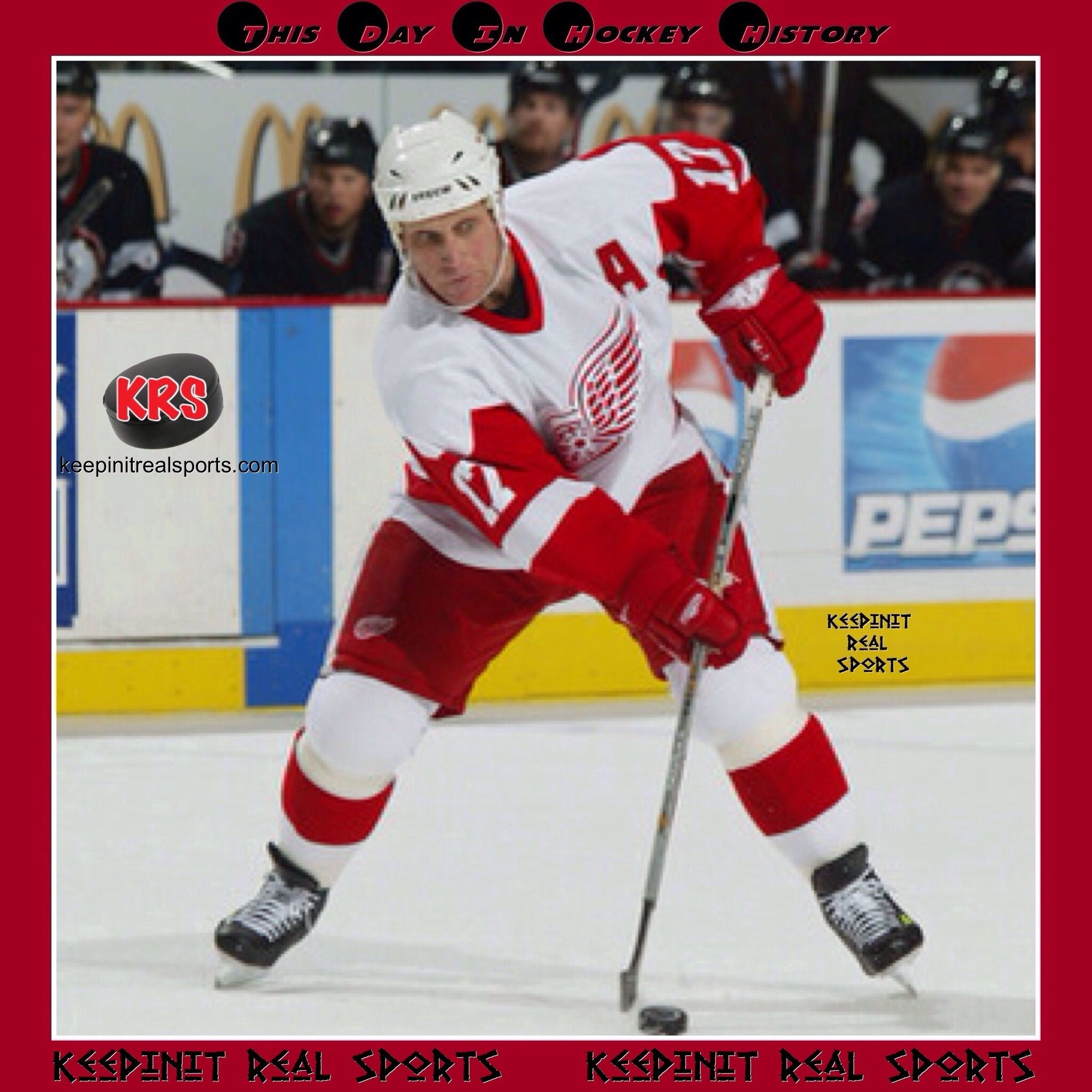 This Day In Hockey History February 10 2003 Brett Hull Detroit Red Wings Became The 6th Player In Nhl History To Detroit Red Wings Sport Event Red Wings