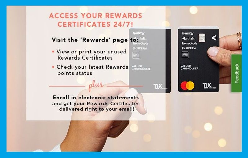 Link your tjx rewards credit card to easily access a digital copy of your rewards certificates within 48 hours of earning. Tjmaxx Credit Card Login Credit Card Credit Card Online Credit Card Apply