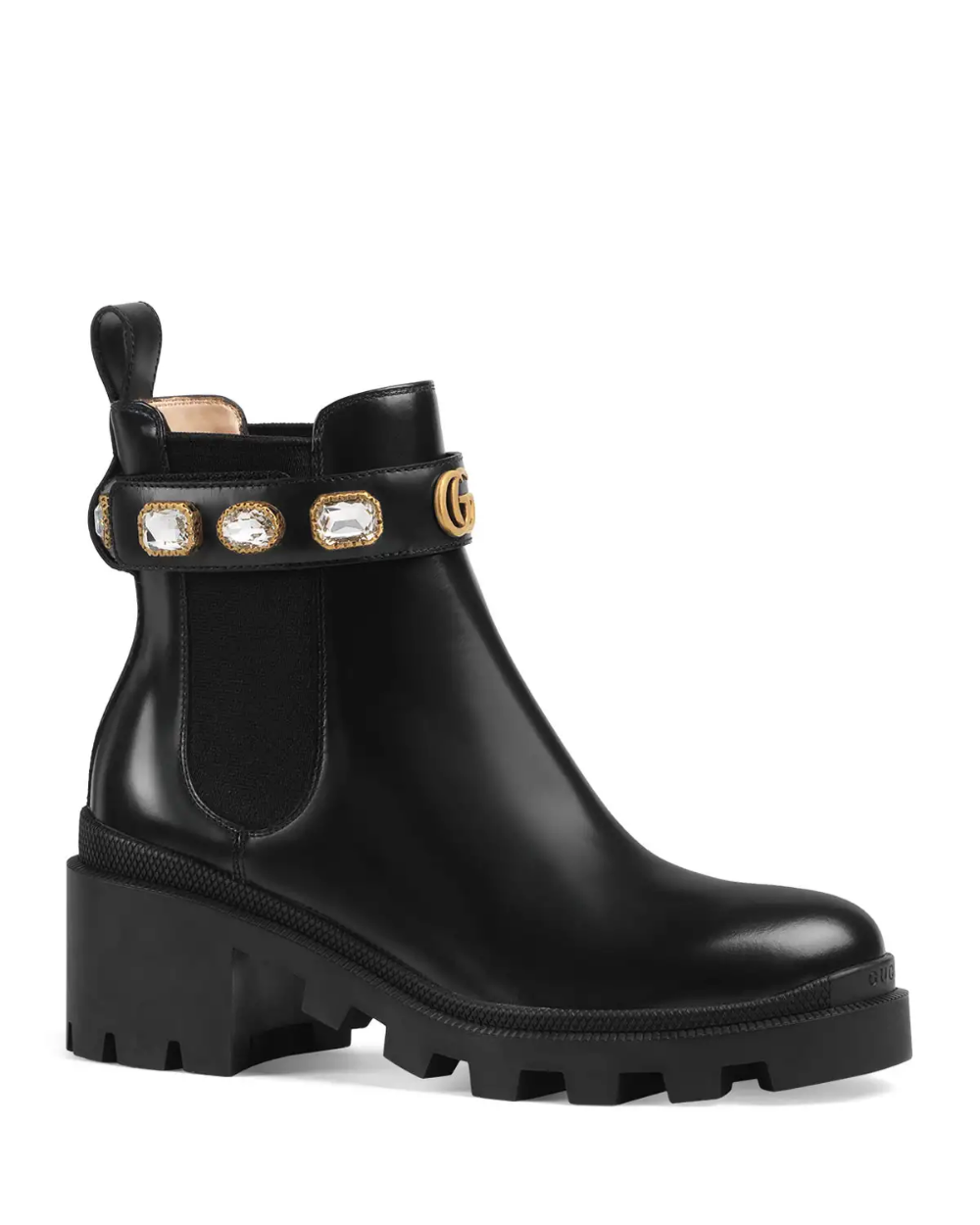 Gucci Trip Leather Chelsea Boots in 2020