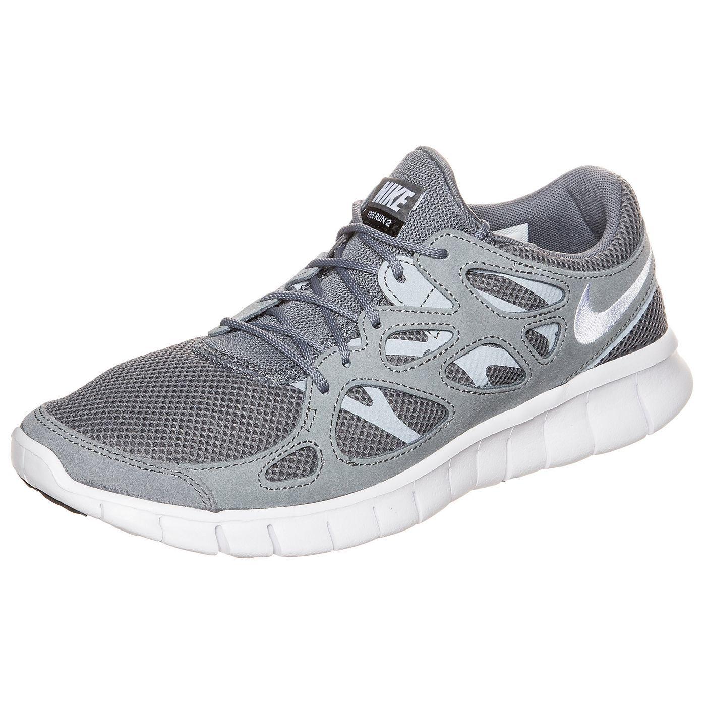 Free Run 2 Sneaker Herren    Der Nike Free Run 2 gehört zu den Leichtgewichten seiner Klasse und passt sich deiner natürlichen Fußbewegung an, um dir auch an stressigen Tagen immer einen sanften Laufkomfort zu garantieren.    Details:   Kombinations-Mesh und Textilobermaterial verstärkt durch leichte, stabile synthetische Haltebänder für Strapazierfähigkeit und Unterstützung / Innenschuh für pe...