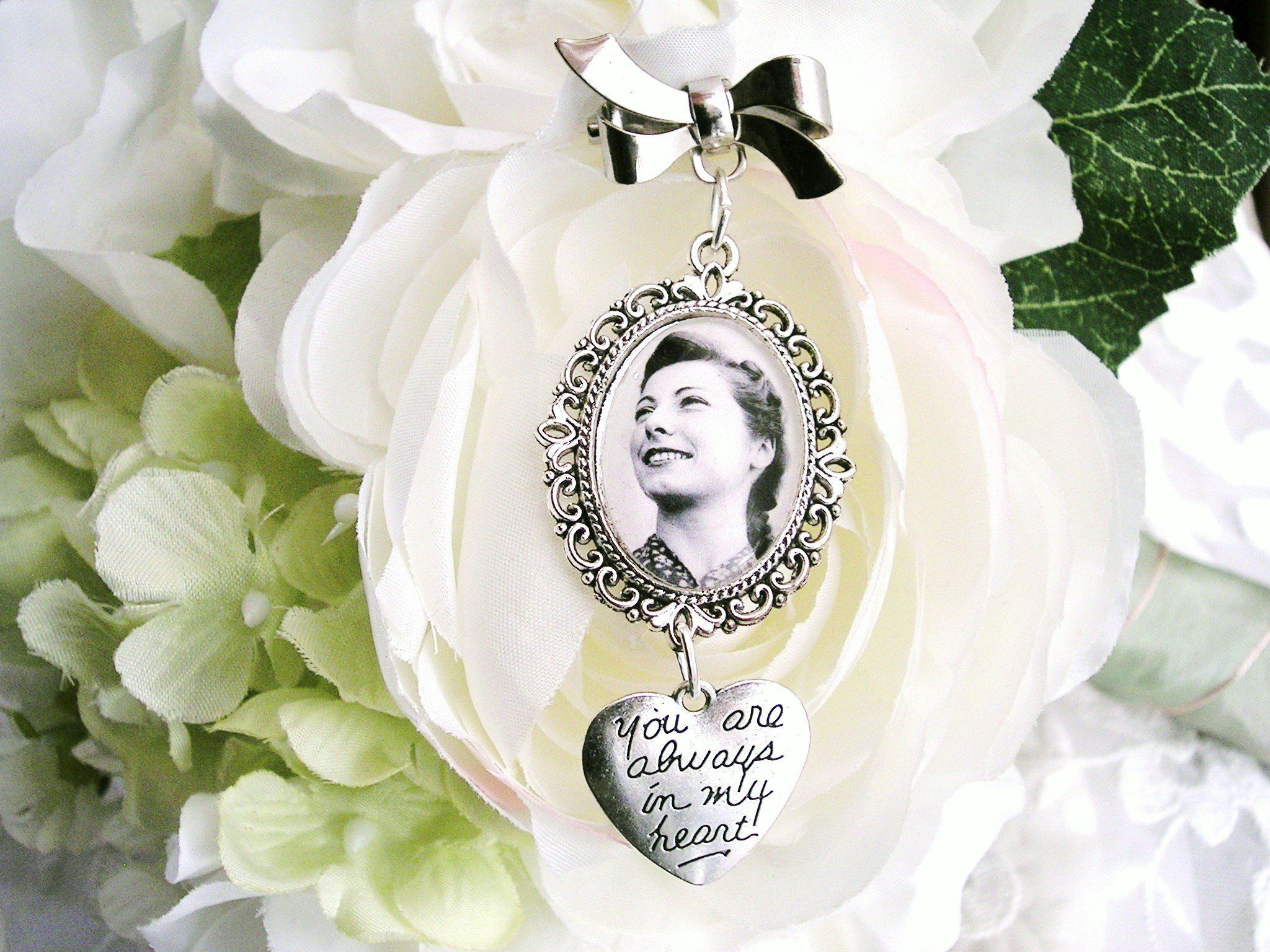 Bride bouquet memory charm wedding bouquet charm gift for