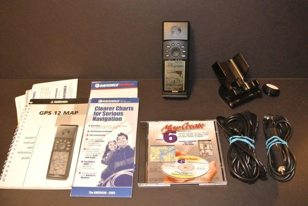 garmin gps 12 map handheld gps receiver w car charger software rh pinterest com