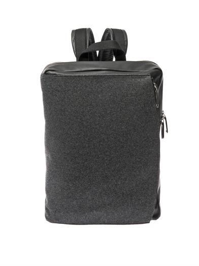 Felt and leather backpack | Maison Martin Margiela | MATCHESFA...