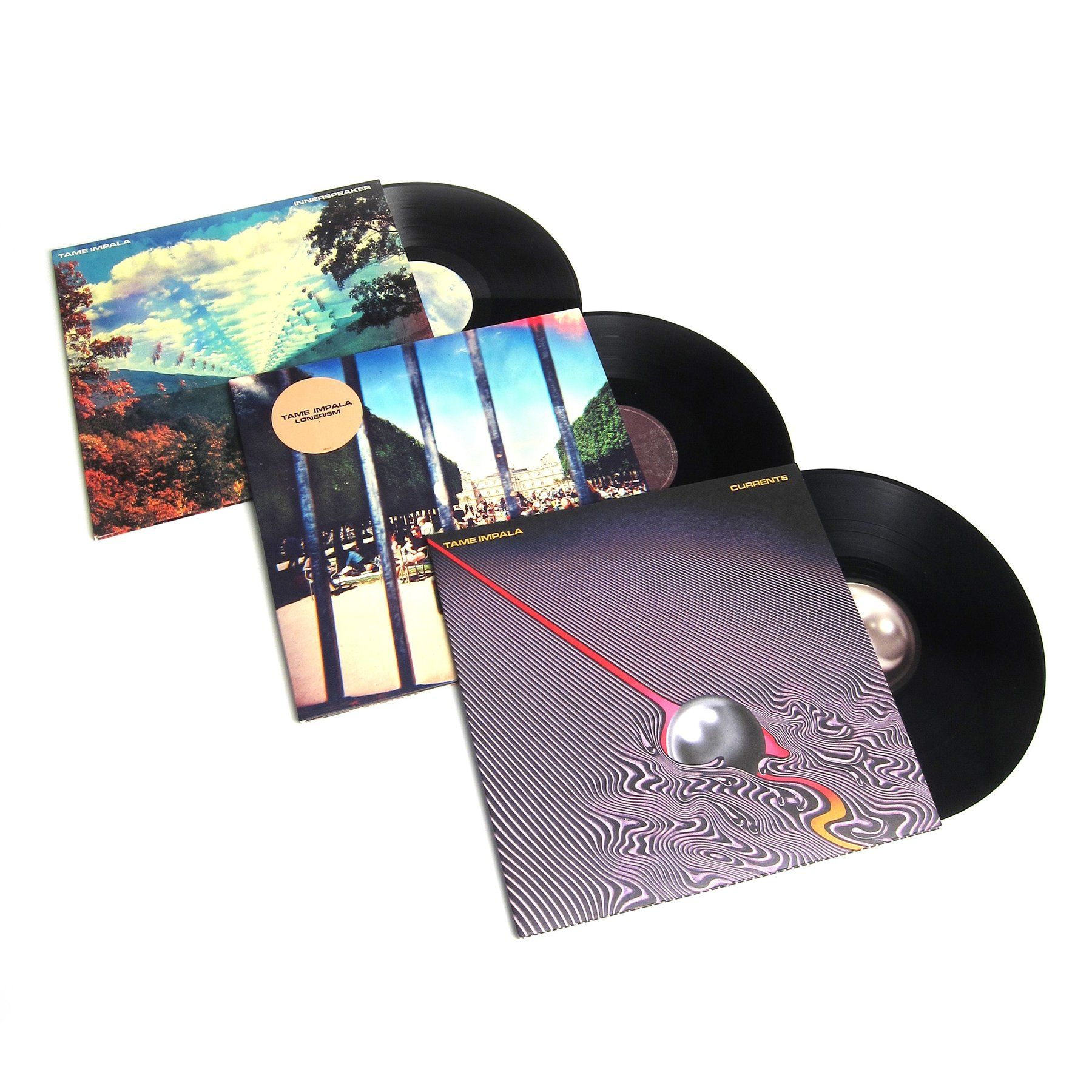 Buy Tame Impala: Vinyl LP Album Pack (Innerspeaker, Lonerism, Currents) at TurntableLab.com, a Better Music Store Experience since 1999.