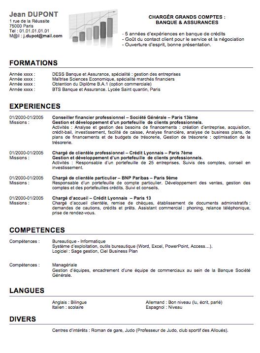 Cv Commercial Banque A Telecharger Gratuitement Sur Creeruncv Com Modeles De Lettres Cv Commerciale Exemple Cv