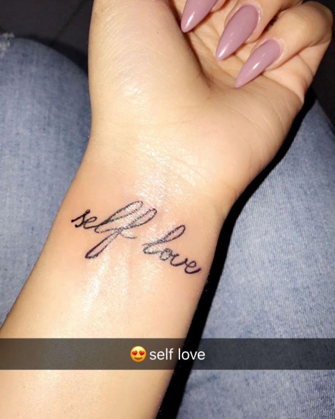 Pin By Erika On T A T O O S P E I R C I N G S Wrist Tattoos Girls Love Wrist Tattoo Self Love Tattoo