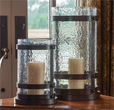 Tealight Holder Wind Light Rustic Silver Brown With Spring