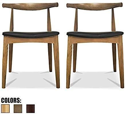 2xhome Contemporary Farmhouse Real Solid Wood PU Leather Cushion Seat Mid Century Modern Dining Chairs Desk Armless No Arm Elbow Side Chair Hans Wegner for Living Room Bedroom Kitchen (Walnut X2)#2xhome #arm #armless #bedroom #century #chair #chairs #contemporary #cushion #desk #dining #elbow #farmhouse #hans #kitchen #leather #living #mid #modern #real #room #seat #side #solid #walnut #wegner #wood