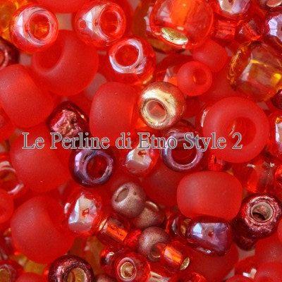 Cod.00512 Toho Mix multi-shape/color mix momiji red di EtnoStyle2