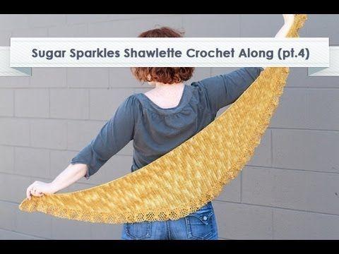 Sugar Sparkles Shawlette CAL Edging Row 7